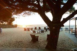 Vue de la plage privée